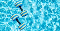 fitness-pool-dumbbells